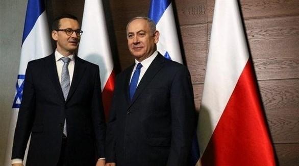 رئيس الوزراء الإسرائيلي نتانياهو ونظيره البولندي ماتيوس مورافيكي (أرشيف)