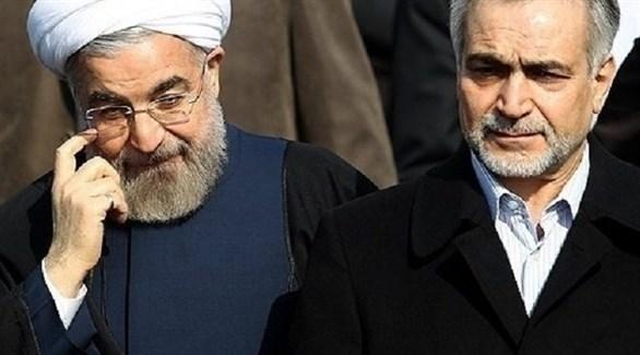 الرئيس الإيراني حسن روحاني (يسار) وشقيقه حسين فريدون  (أرشيف)