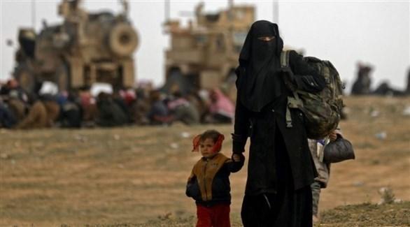 عائلة إحدى مقاتلي داعش الإرهابي (أرشيف)