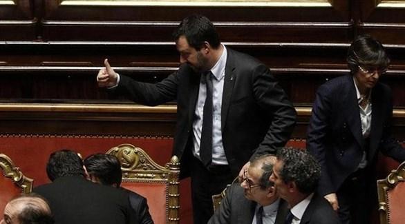 نائب رئيس الوزراء وزير الداخلية الإيطالي ماتيو سالفيني (أرشيف)