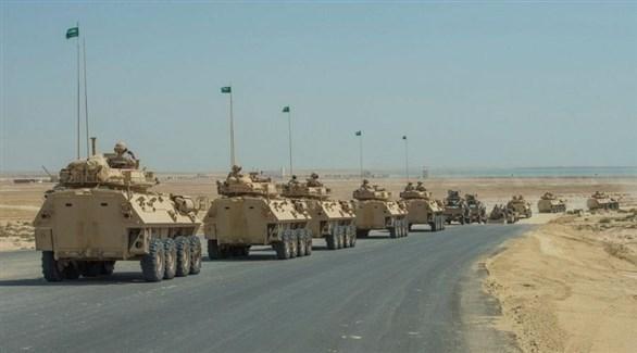 آليات عسكرية في تمرين درع الجزيرة 10 (واس)