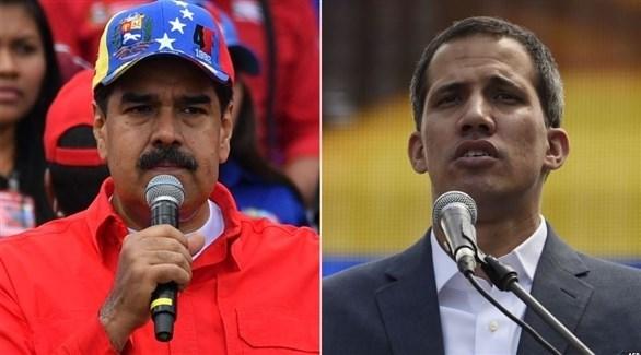 زعيم المعارضة الفنزويلي غوايدو والرئيس الفنزويلي مادورو (أرشيف)