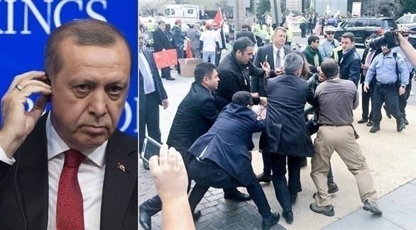 حراس أردوغان يعتدون على متظاهرين في واشنطن (أرشيف)
