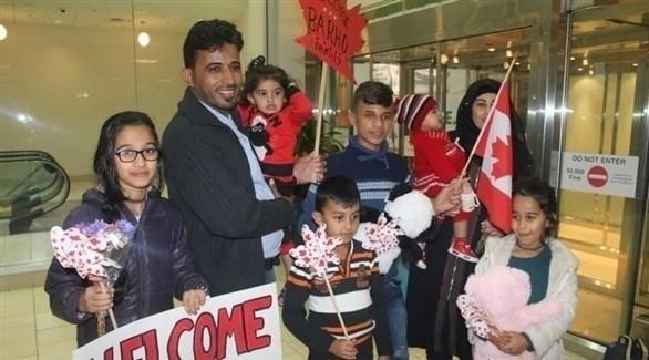 العائلة السورية عند وصولها إلى كندا (Enfield Weekly Press)
