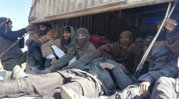 إرهابيون من داعش في يد قوات قسد بعد استسلامهم في باغوز (أرشيف)