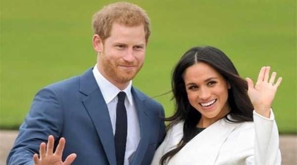 الأمير هاري وزوجته ميغان ماركل (أرشيف)