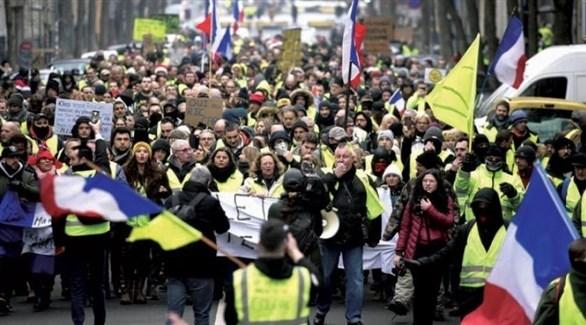 تظاهرة احتجاجية للسترات السفراء في باريس (أرشيف)