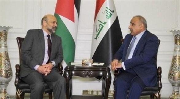 رئيسا الوزراء العراقي عادل عبد المهدي والأردني عمر الرزاز (أرشيف)