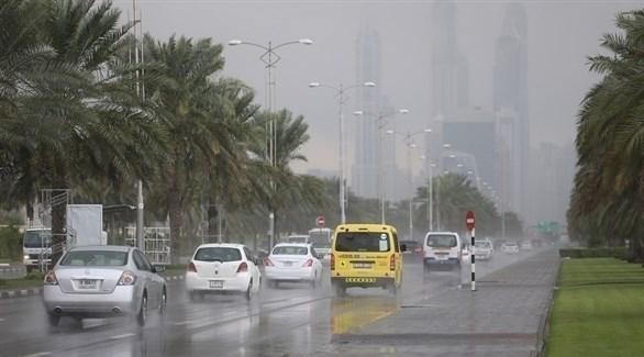هطول أمطار في وقت سابق بالإمارات (أرشيف)