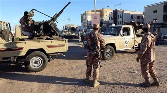 قوة عسكرية للجيش الليبي في سبها غدوة بعد طرد الإرهابيين منها (أرشيف)