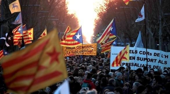 مظاهرات في كتالونيا (إي بي أيه)