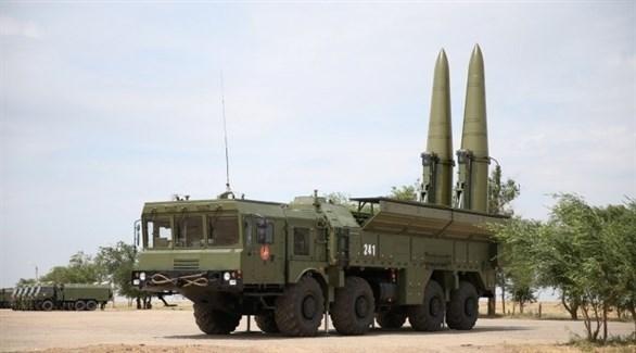 إحدى منظومات الصواريخ الروسية من طراز إسكندر إم (أرشيف)