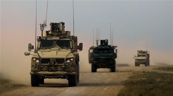 آليات عسكرية للقوات المدعومة من أمريكا في سوريا (أ ف ب)