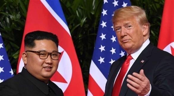 الرئيس الأمريكي ترامب والزعيم الكوري الشمالي كيم (أرشيف)