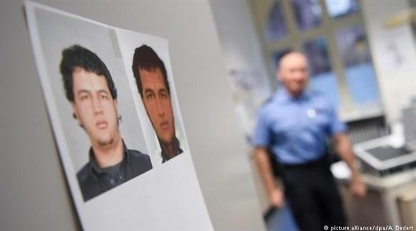 صور لأنيس العمري في مركز للشرطة الألمانية (أرشيف)