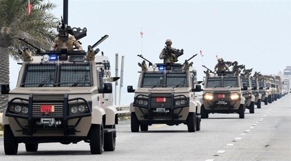 مجموعة القتال البرية البحرينية خلال مغادرتها للمشاركة في تمرين درع الجزيرة 10 (بنا)