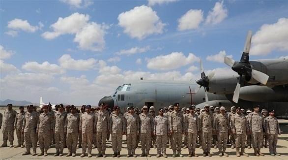 جانب من القوات السعودية المشاركة في التمرين البحري مع السودان (تويتر)