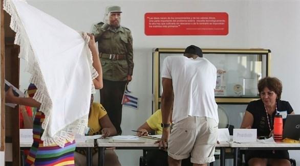 تصويت الكوبيون على الدستور الجديد (أرشيف)