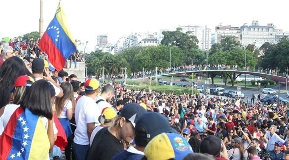 مظاهرات في بوينس آيرس دعماً لغوايدو (إيه بي أيه)