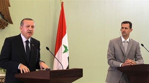 الرئيس السوري بشار الأسد ونظيره التركي رجب طيب أردوغان (أرشيف)