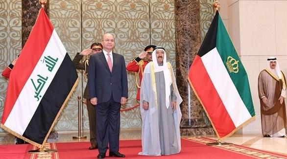 أمير الكويت الشيخ صباح الأحمد الجابر الصباح والرئيس العراقي برهم صالح (أرشيف)