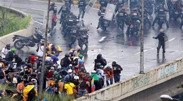 مواجهات بين الشرطة ومتظاهرين في فنزويلا(أرشيف)