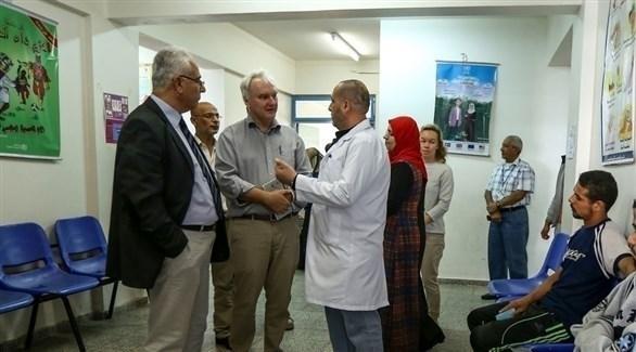 مدير عمليات الأونروا في غزة ماتياس شمالي في مركز تل السلطان الصحي (أرشيف)