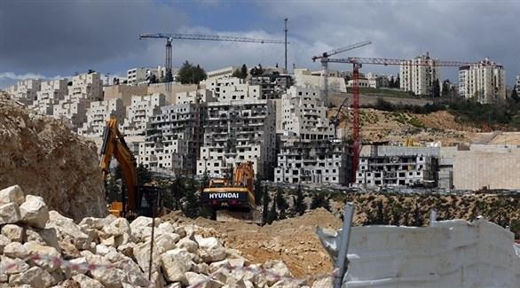 بناء مستوطنة إسرائيلية في الضفة الغربية (أرشيف)