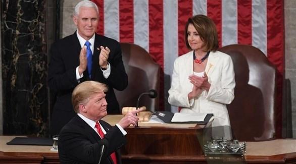 ترامب خلال خطاب الاتحاد