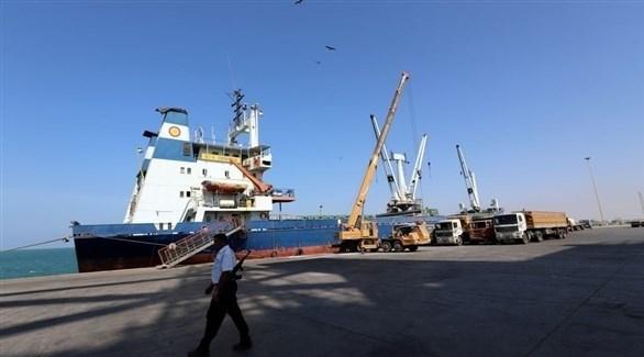 سفينة راسية في ميناء الحديدة (أرشيف)