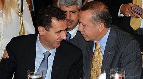 الرئيس التركي مع نظيره السوري (أرشيف)
