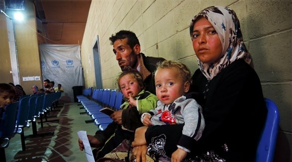 عائلة من النازحين السوريين في لبنان (أرشيف)
