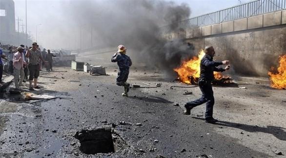 انفجار مفخخة من مخلفات تنظيم داعش في تكريت العراقية (أرشيف)
