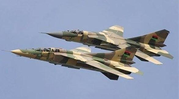 طائرتين حربيتين تابعتين للجيش الليبي (أرشيف)