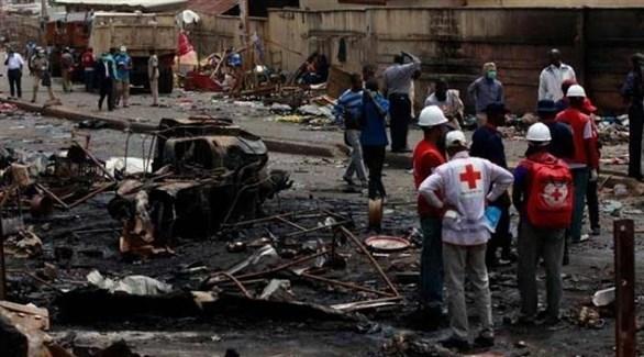 تفجير إرهابي لحركة الشباب في مخيم للنازحين في نيجيريا (أرشيف)