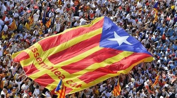 مظاهرة في كتالونيا تدعم الانفصال(أرشيف)
