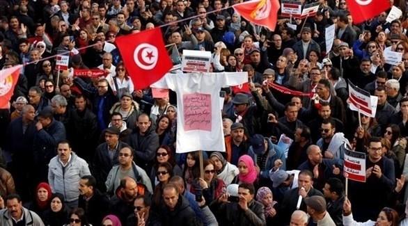 مظاهرات احتجاجية سابقة لمعلمين تونسيين (أرشيف)