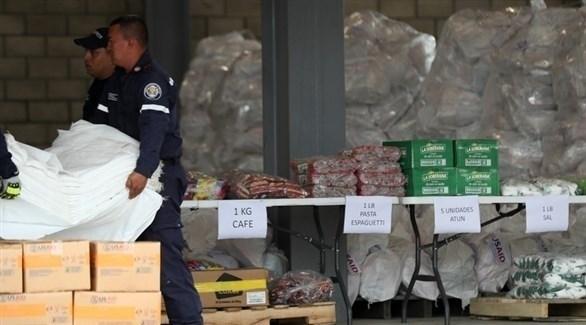 معونات غذائية مُرسلة إلى فنزويلا (إ ب أ)