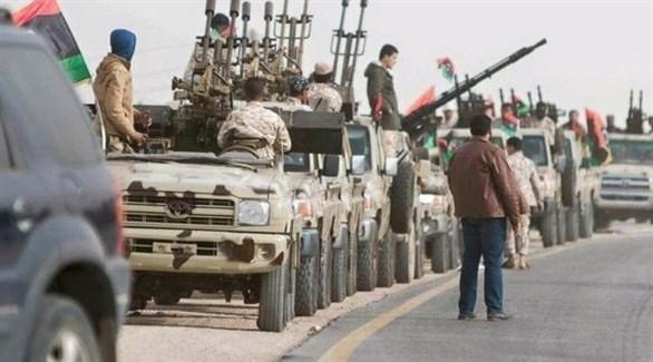 الجيش الليبي خلال تمشيط مناطق في محيط مدينة درنة (أرشيف)