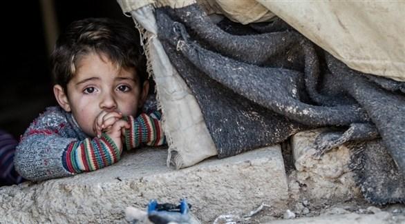 طفل سوري في أحد مخيمات اللجوء (يونيسف)