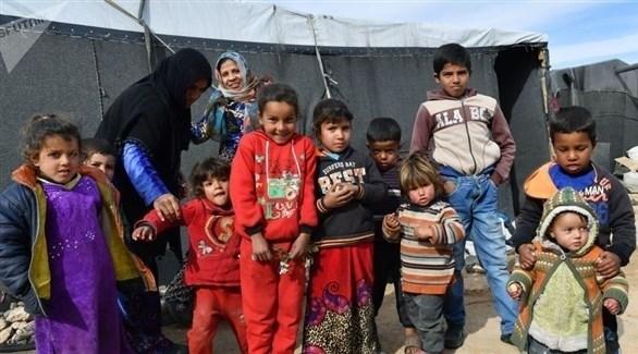 أطفال في مخيم الهول للاجئين السوريين (أرشيف)