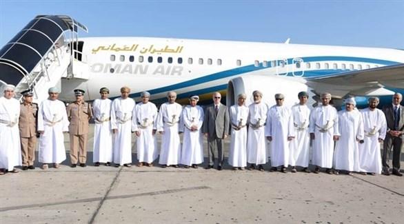 جانب من احتفال وصول إحدى طائرات بوينغ إلى مطار سلطنة عمان (أرشيف)