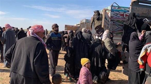 عائلات من داعش في الباغوز تستعد لمغادرة معقل التنظيم (أرشيف)