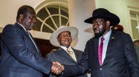 رئيس جنوب السودان سلفا كير وزعيم المعارضة ريك مشار (أرشيف)