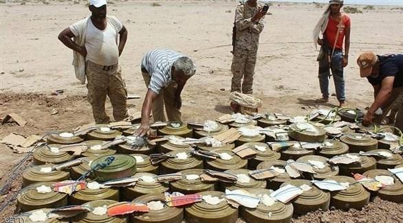 ألغام حوثية أزالتها فرق الجيش اليمني من الحديدة (أرشيف)