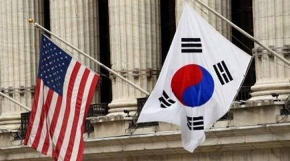 علما كوريا الجنوبية وأمريكا (أرشيف)