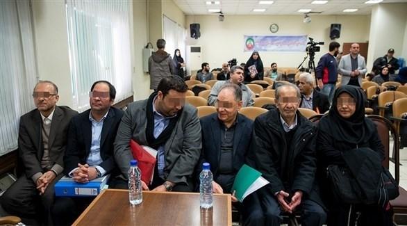 جانب من محاكمة المتهمين من شركة البتروكيماويات في إيران (فارس نيوز)