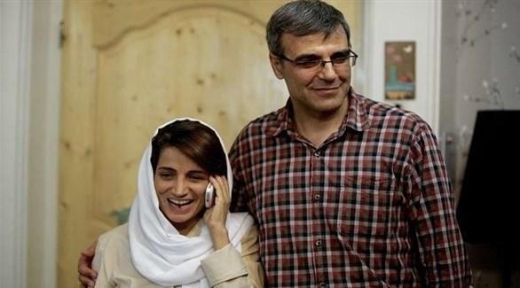 المحامية الإيرانية نسرين سوتوده وزوجها (أرشيف)