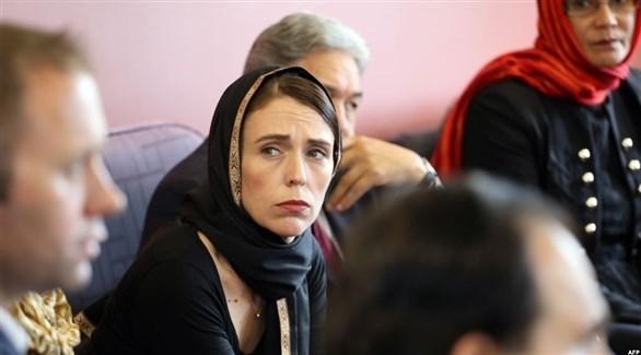 رئيسة الحكومة النيوزيلندية جاسيندا آردرن تعزي أقارب الضحايا (الحرة)
