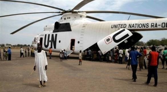هبوط مروحية للأمم المتحدة جنوب السودان (أرشيف)